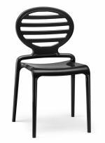 Модерен лъскав стол черен