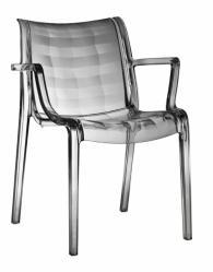 Прозрачно сив дизайнерски стол
