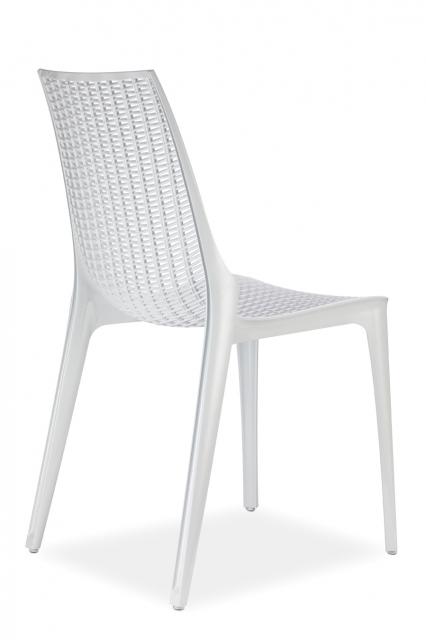 Модерен бял стол