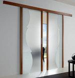 приятни  портални стъклени интериорни врати
