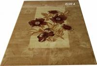 Кафяв килим релеф на цветя