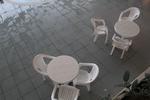 Пластмасова маса за хотел, за открити пространства