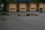 изграждане на павилион за продажба до 6 кв.м от дърво