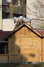 изработване на дървен павилион за продажба  до 4кв.м