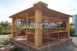 изработка по поръчка на дървена шатра