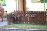 изработка на дървени оградни пана за механи и кръчми