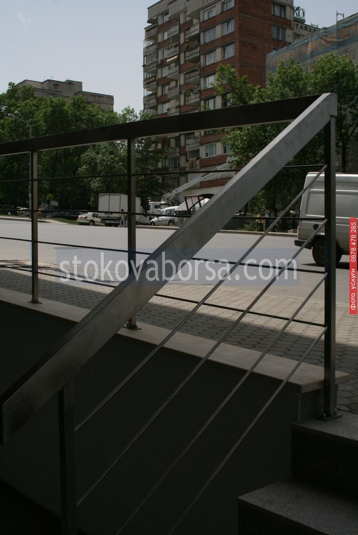 алуминиеви парапети от правоъгълен профил по поръчка