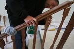монтиране на дървени парапети за стълбище по поръчка