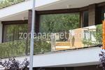 стъклен парапет за тераса