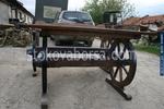 битови дървени маси с една пейка за заведения