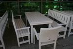 изработка на битова маса с две пейки и 1 стол по поръчка