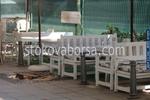 битова маса с дървени пейки по поръчка