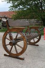 дървена пейка за механа и кръчма
