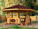 Изработка на дървени градински беседки