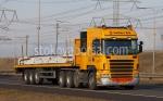 Превозване на товари с товарен автомобил влекач Scania