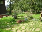 настилка от гнайс за градината