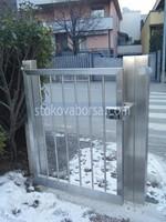 портална врата от неръждаема стомана