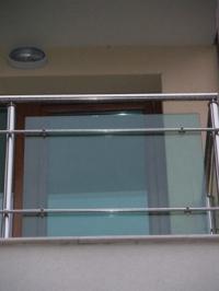 Стъклен парапет-инокс