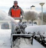 Почистване на сняг със снегорин
