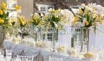 луксозна сватбена украса с естествени цветя