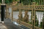 фирма за кована позлатена решетъчна ограда