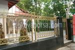 изработка на решетъчна ограда от ковано желязо позлатена