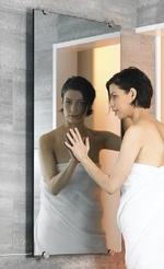 стъклен радиатор тип огледало