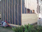 изграждане на дървена фасада