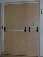 метална двукрила противопожарна врата