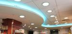 окачени тавани от гипсокартон с лед осветление