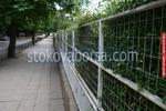 плътни метални огради с мрежа