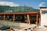 изграждане на дървени навеси за спортни съоръжения и пристройки
