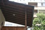 дървени навеси за тераси в битов стил