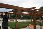 дървена пергола по индивидуален проект