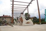 изграждане дървена пергола