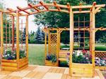 изграждане дървена пергола за градината