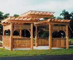 пергола за градината от дървен материал по поръчка