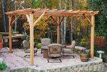 дървена пергола за градината