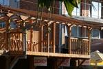 Навес от дърво за балкон по поръчка