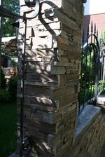 облицовки с гнайс за огради