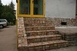 облицовка с гнайс на стълбище