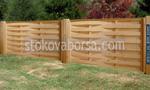 дървени огради от чам с цветен лак
