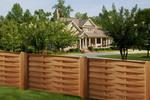 изработка на дървена ограда с пана от чам 200x125см