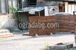 изработка на дървена ограда с пана от чам 200x70см