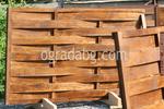 изграждане на дървени огради от чам с дървени пана 200x200см