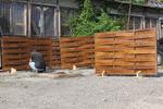 дървени огради по поръчка от дървени пана 200x200см.