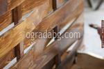огради от дървени пана 200x200см