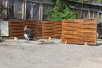 дървена ограда по поръчка от дървено пано 200x200см.