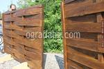 дървени огради от чам с оградни пана 200x200см