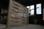 дървени огради от чам по поръчка без лак